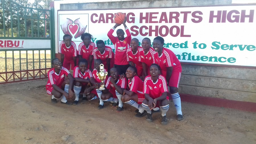Caring Hearts High School basketball team the champions of 2016 regional tournament